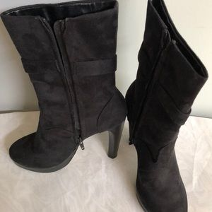 Newport News Black Suede Booties